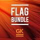 3D Flag Bundle Mock-up - GraphicRiver Item for Sale