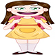 Girl Standing With School Bag - GraphicRiver Item for Sale