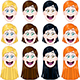 Girl Heads Set - GraphicRiver Item for Sale