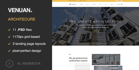 Venuan – Architecture PSD template