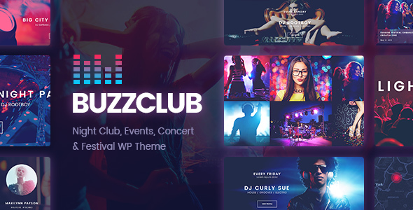 Buzz Club – Night Club, DJ & Music Festival Event WordPress Theme