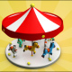 Carousel Low Poly - 3DOcean Item for Sale