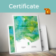 Watercolor Corporate Certificate Template - GraphicRiver Item for Sale