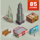 Isometric Map Icons Vol.02 - GraphicRiver Item for Sale