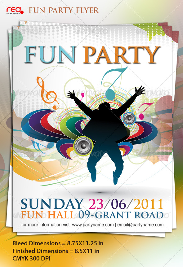 Beautiful Music Party Poster/Flyer Template - Clubs & Parties Events