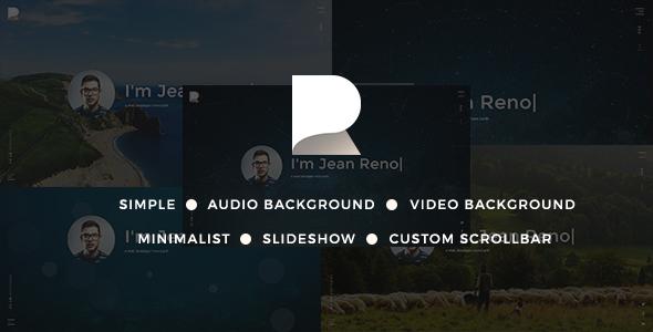 RENO - Minimalist vCard Resume Template