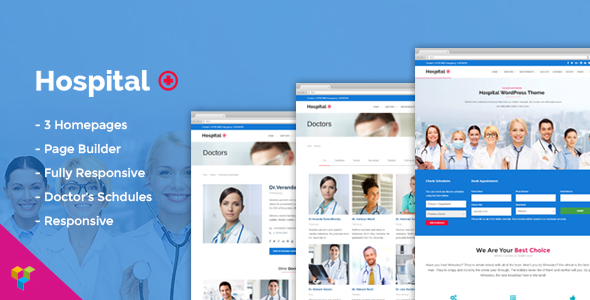 Hospital Medical Doctor WordPress Theme – Hospital+