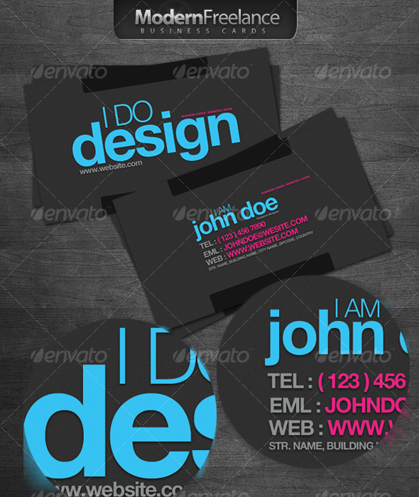 Modern freelance business cards by ibib graphicriver modern freelance business cards creative business cards wajeb Image collections