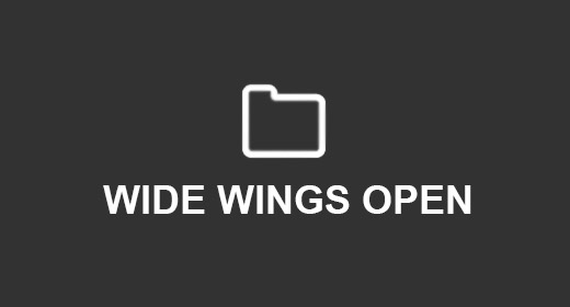 WIDE WINGS OPEN