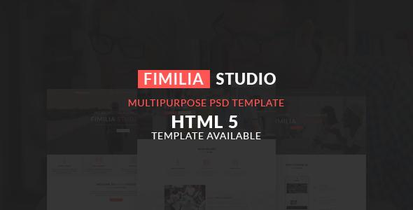 FIMILIA STUDIO - CREATIVE PSD TEMPLATE