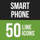 Smartphone Line Green & Black Icons