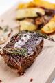 Grilled bbq steak