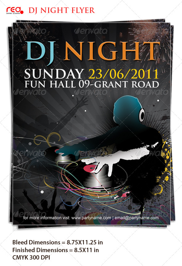 Beautiful Dj Night Posterflyer Template By Redshinestudio