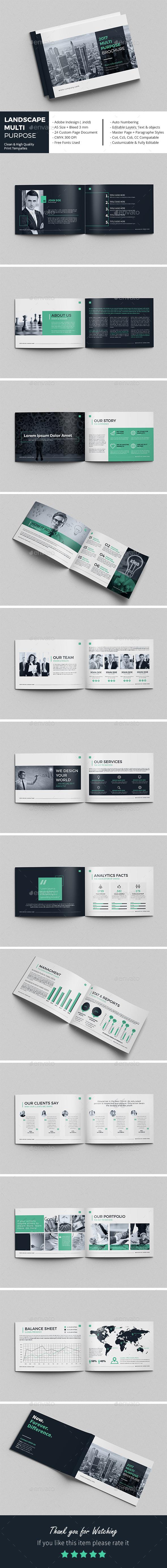 Landscape Multi-Purpose Brochure - Corporate Brochures
