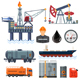 Oil industry Flat Icons Set - GraphicRiver Item for Sale