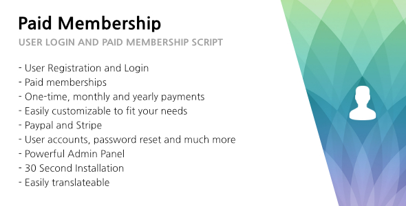 Paid Membership - User Login and Paid Membership - CodeCanyon Item for Sale