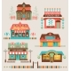 Markets Buildings And Urban Elements Set. - GraphicRiver Item for Sale