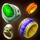 Game Icons of Fantasy Magic Rings Pack 9 - GraphicRiver Item for Sale
