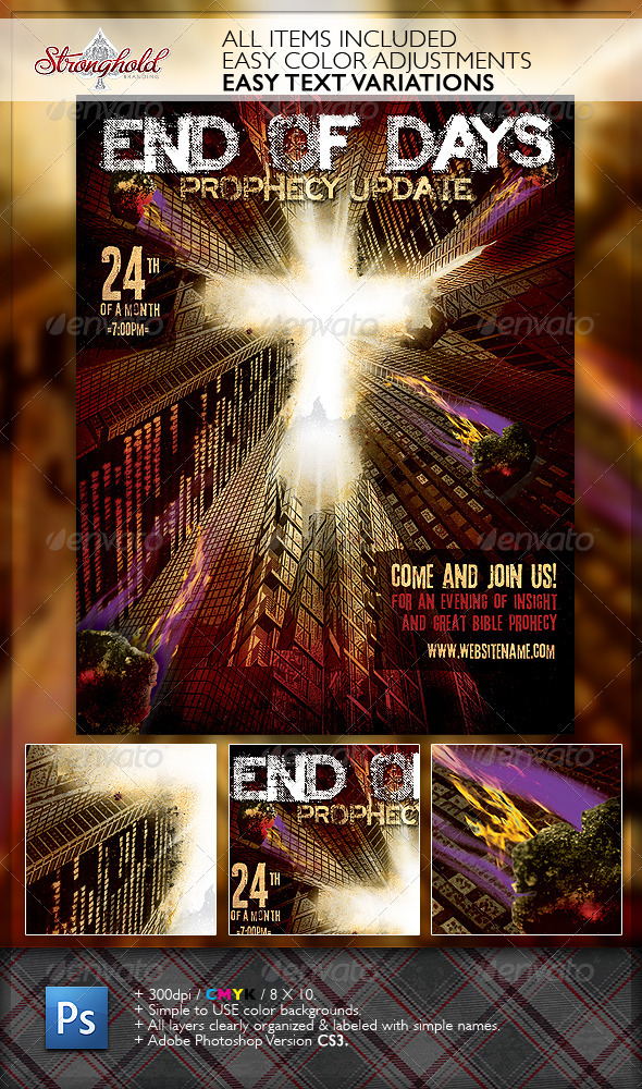 Prophecy Church Flyer Template - Church Flyers