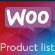 WooCommerce Product Listing
