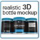 Realistic 3D Bottle Mock-Up - GraphicRiver Item for Sale