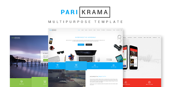 Parikrama - One Page Multipurpose Template - PSD Templates