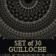 Set of 30 Guilloche - GraphicRiver Item for Sale