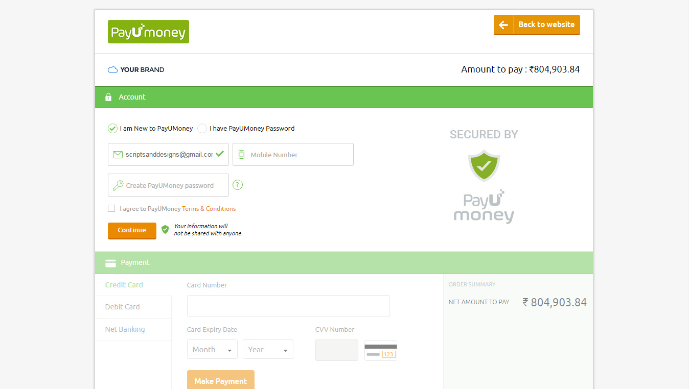 Payumoney Payment Gateway For Resellerclub Logicboxes