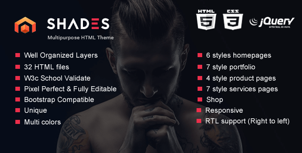 Shades – Creative Multipurpose Reponsive HTML5  template