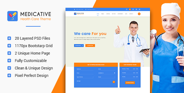 Medicative – Medical & Health PSD Template