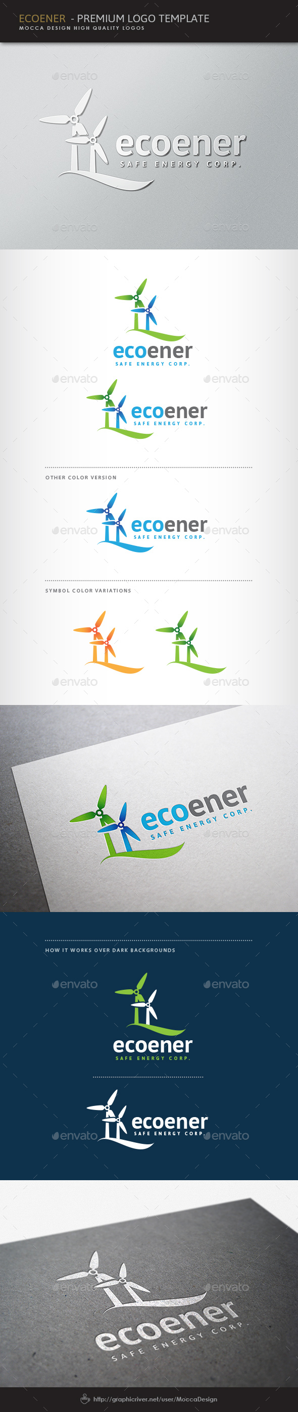 Ecoener Logo - Nature Logo Templates