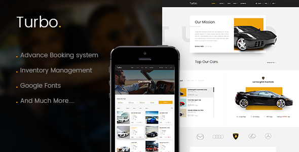 Turbo – Car Rental System WordPress Theme