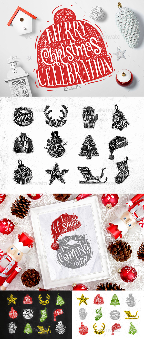 Christmas Silhouettes - Christmas Seasons/Holidays
