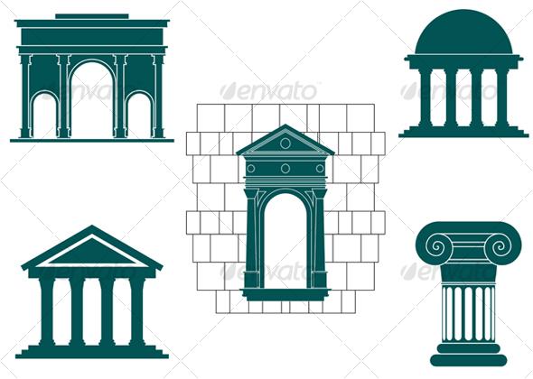 symbols of ancient buildingsseamartini | graphicriver