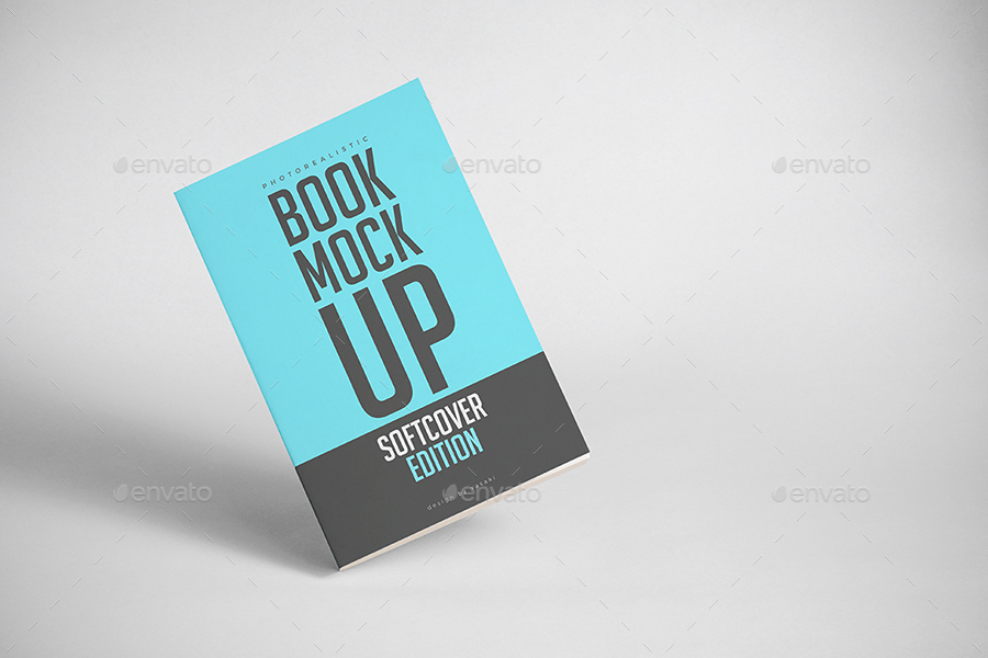 Vintage Soft Cover Book Mock Up ~ Softcover book mock up by vasaki graphicriver