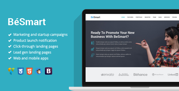 BeSmart High-Converting Landing Page WordPress Theme