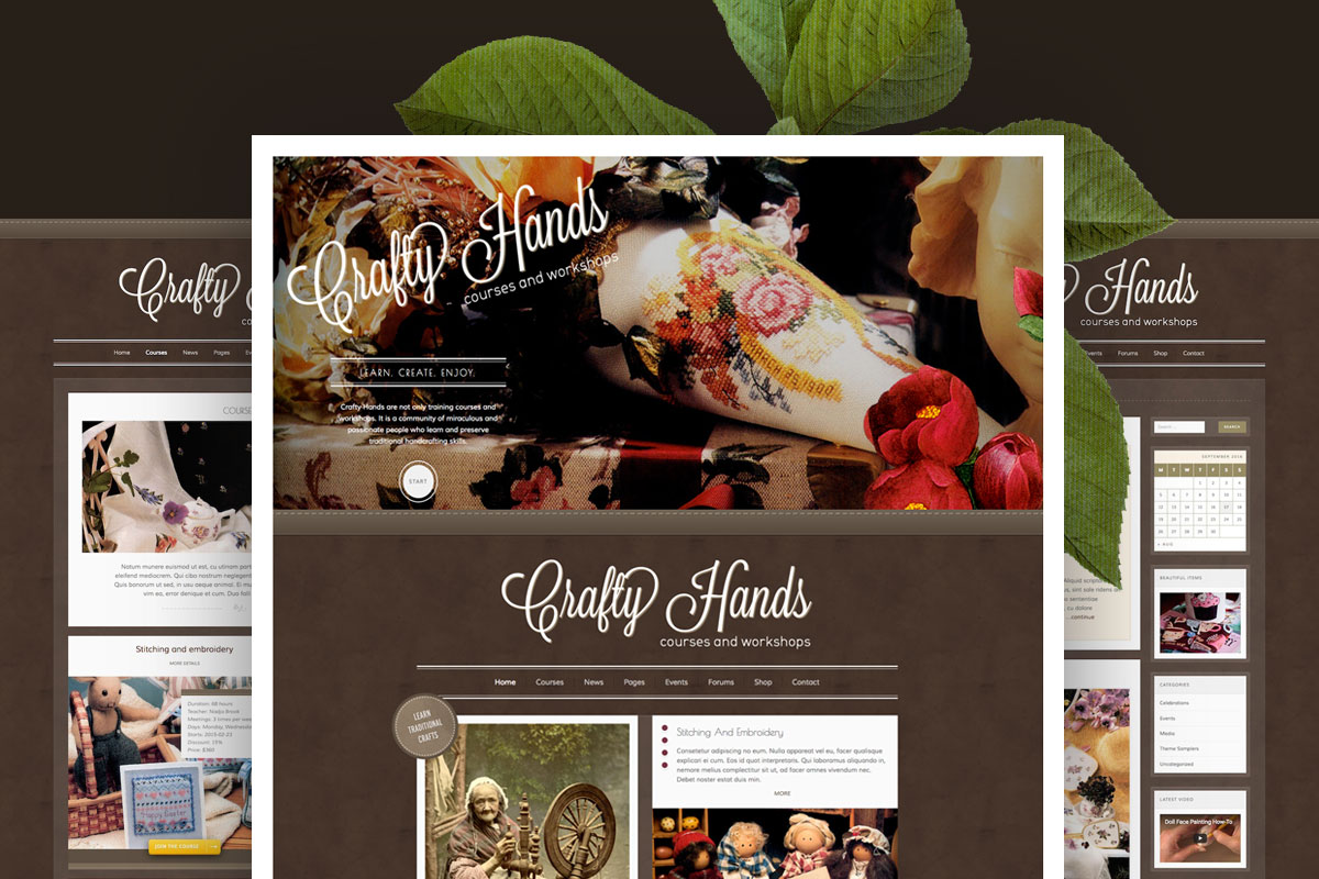 Crafty Hands–Courses, Training, Workshops WP Theme by virtuti ...