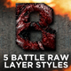 Battle Raw Photoshop Layer Styles - GraphicRiver Item for Sale