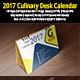 Culinary Desk Calendar 2017 - GraphicRiver Item for Sale