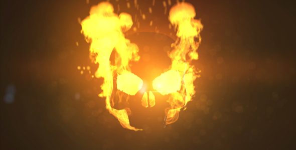 Fire skull logo by coopercustom videohive play preview video voltagebd Choice Image