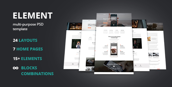 Element – Multi-Purpose PSD Template