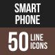 Smartphone Line Multicolor Icons
