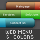 Web Menu With Six Different Colors - GraphicRiver Item for Sale