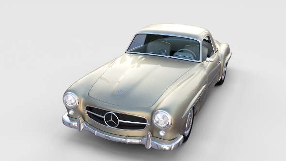 Mercedes 190SL with Interior Hard Top rev - 3DOcean Item for Sale
