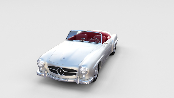 Mercedes 190SL with Interior rev - 3DOcean Item for Sale