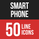 Smartphone Filled Line Icons