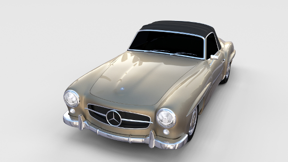Mercedes 190SL Soft Top rev - 3DOcean Item for Sale