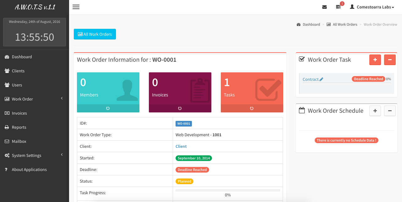 advanced work order tracking system by comestoarra labs codecanyon