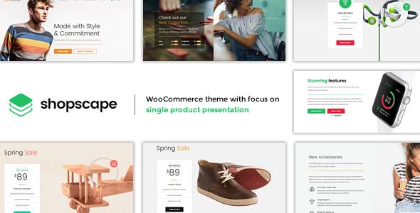 Shopscape - Single Product WordPress Theme