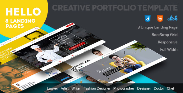 Hello - Responsive Portfolio Template - Resume / CV Specialty Pages